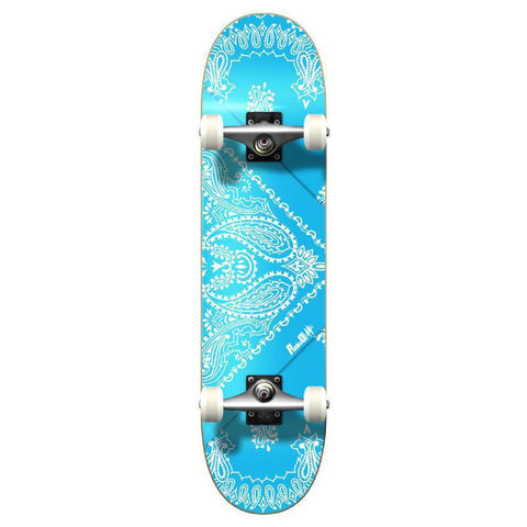 Punked Graphic Complete Skateboard - Bandana SkyBlue - Longboards USA