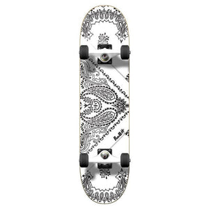 Punked Graphic Complete Skateboard - Bandana White - Longboards USA