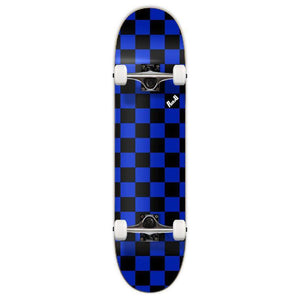 Punked Graphic Complete Skateboard - Checker Blue - Longboards USA