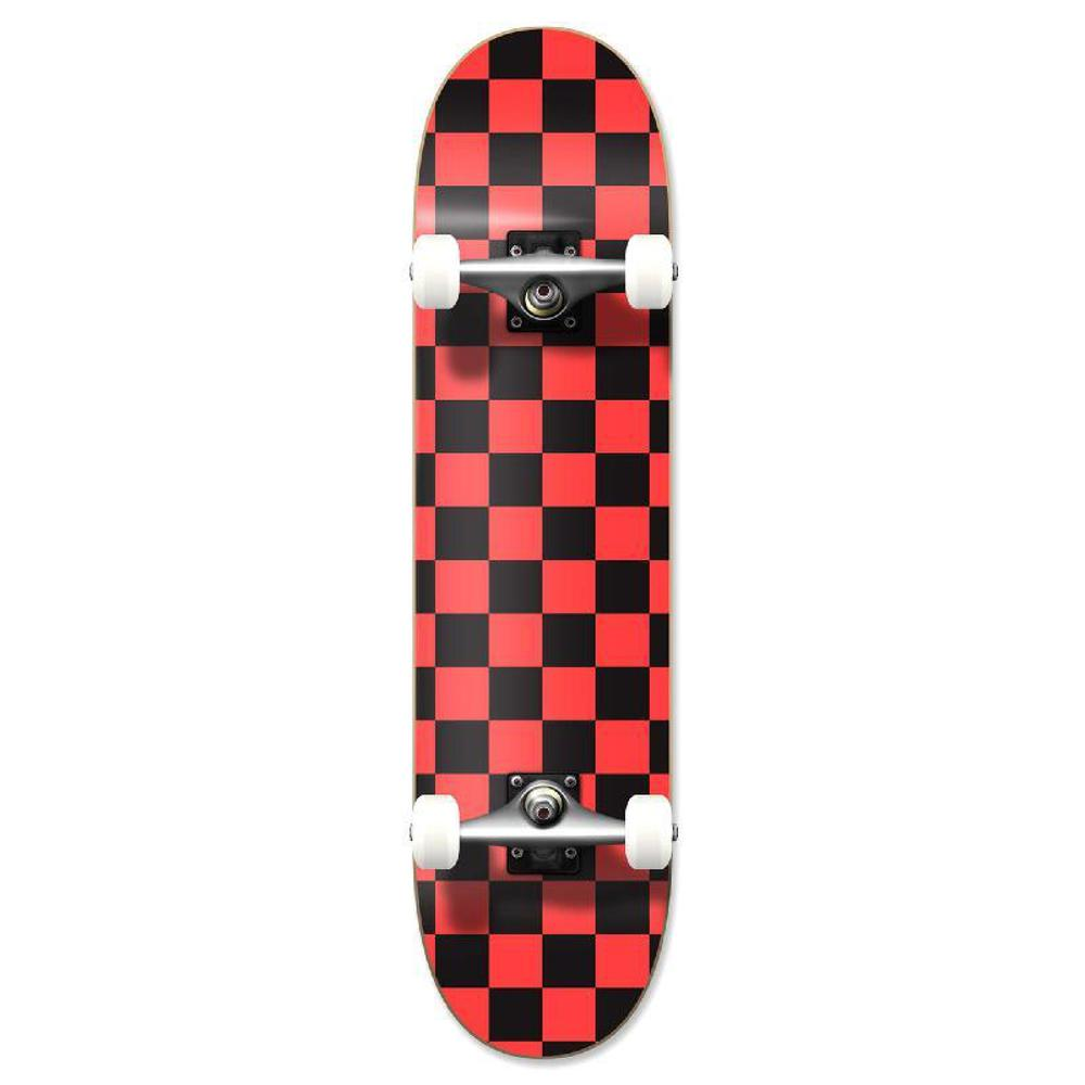 Punked Graphic Complete Skateboard - Checker Orange - Longboards USA