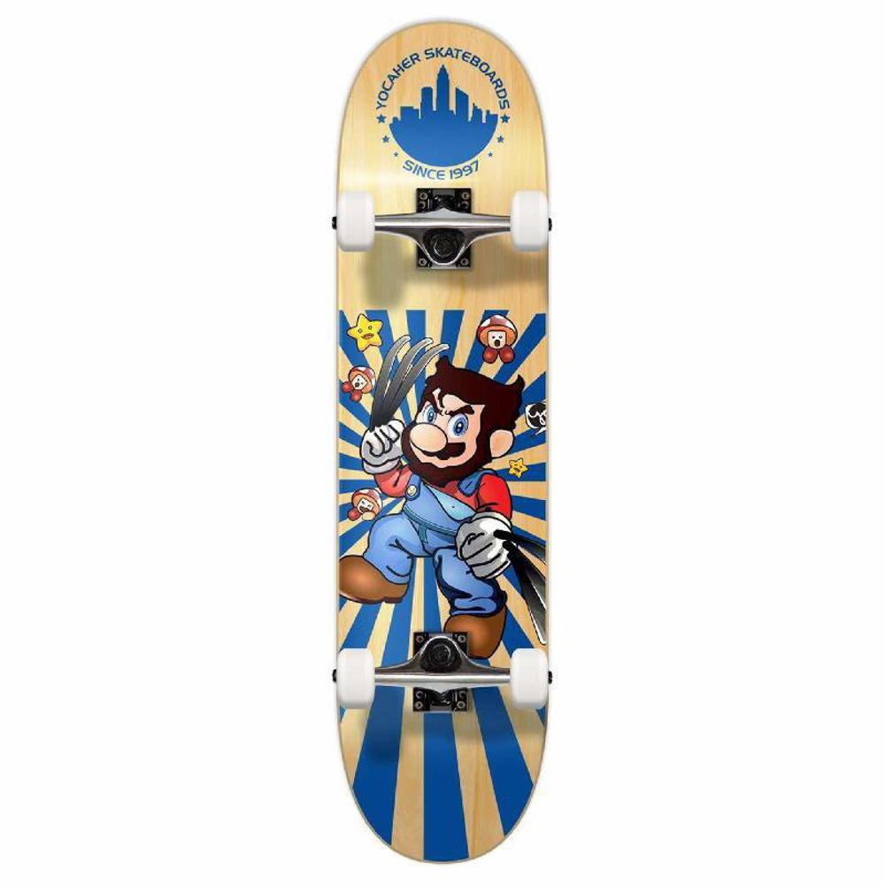 Punked Graphic Complete Skateboard - Retro Series - Snikt - Longboards USA