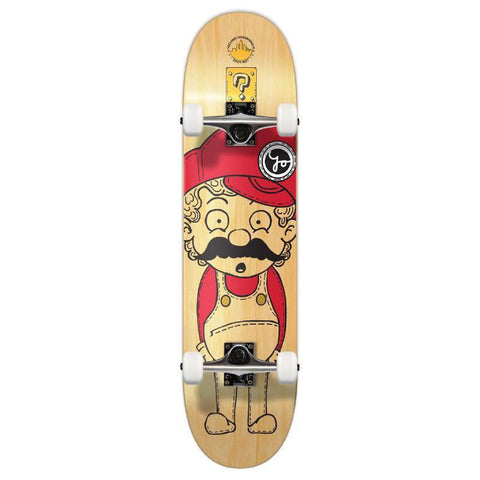 Punked Graphic Complete Skateboard - Retro Series - Stache - Longboards USA