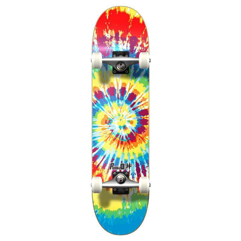 Punked Graphic Complete Skateboard - Tiedye Original - Longboards USA