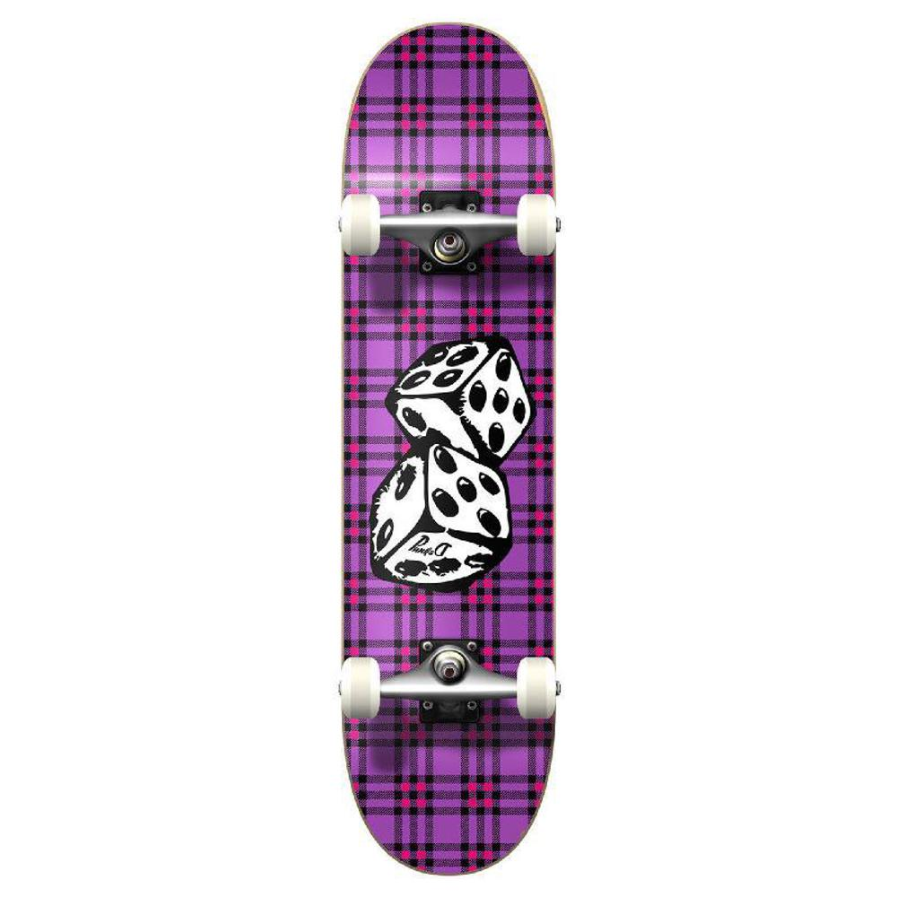 Punked Graphic Dice Complete Skateboard - Longboards USA