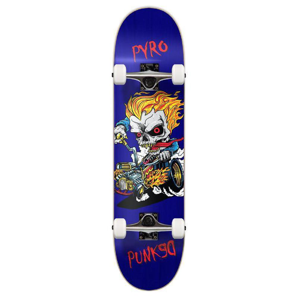 Punked Graphic Hot Rod Pyro Complete Skateboard - Longboards USA