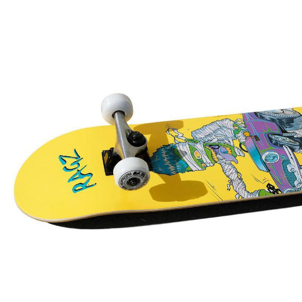 Punked Graphic Hot Rod Ragz Complete Skateboard - Longboards USA