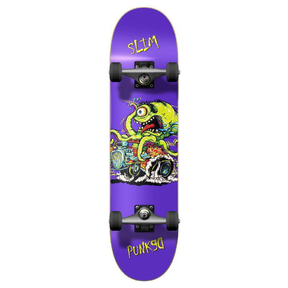 Punked Graphic Hot Rod Slim Complete Skateboard - Longboards USA