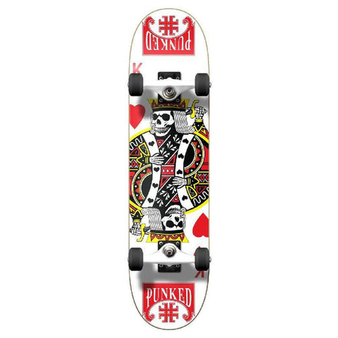 Punked Graphic King of Hearts Complete Skateboard - Longboards USA