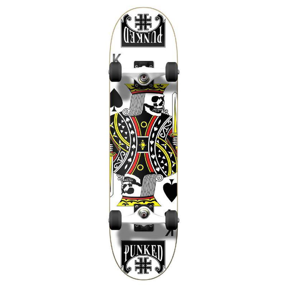 Punked Graphic King of Spades Complete Skateboard - Longboards USA