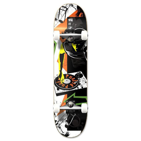 Punked Graphic Mixitup Complete Skateboard - Longboards USA