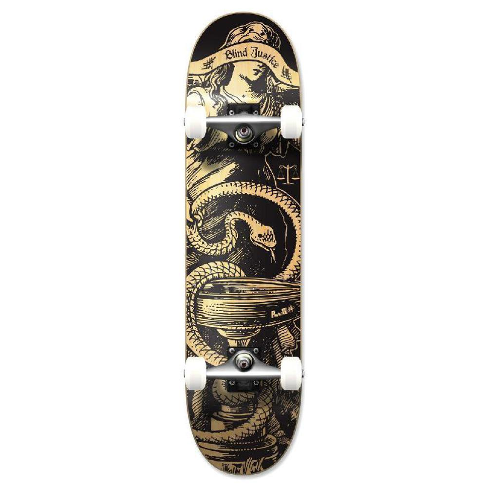 Punked Graphic Natural Blind Justice Complete Skateboard - Longboards USA