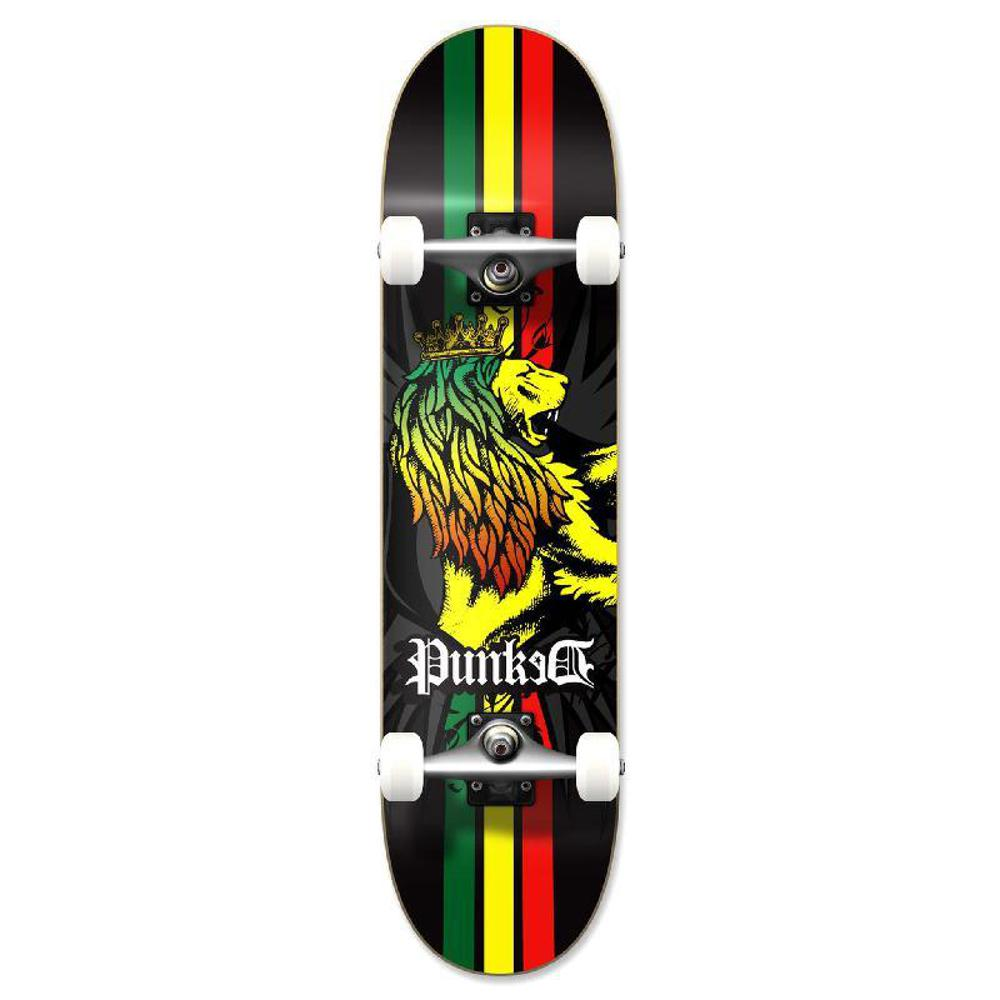 Punked Graphic Rasta Complete Skateboard - Longboards USA