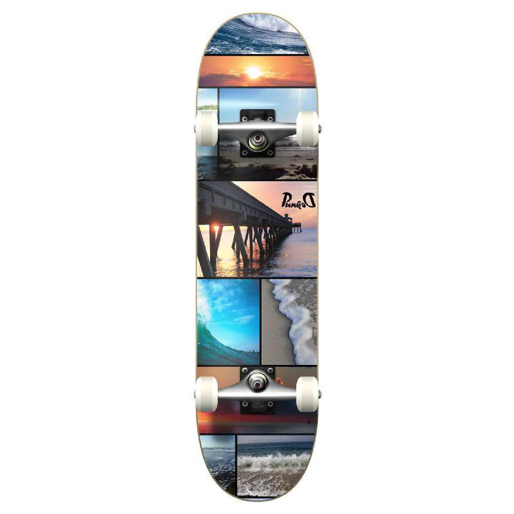 Punked Graphic Seaside Complete Skateboard - Longboards USA