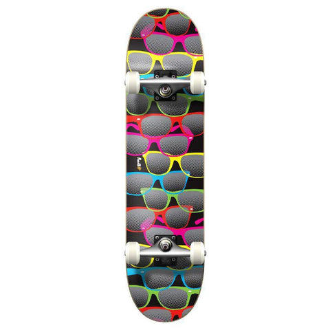 Punked Graphic Shades Black Complete Skateboard - Longboards USA