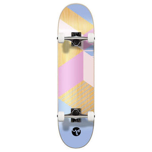 Punked Graphic Skateboard Complete - Geometric Series - Purple - Longboards USA