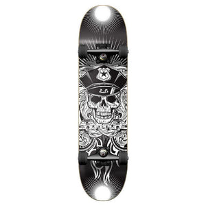 Punked Graphic Skull Cop Complete Skateboard - Longboards USA