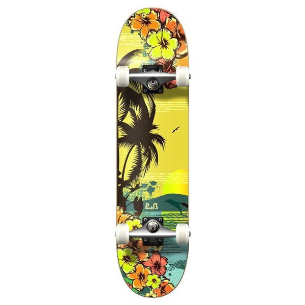 Punked Graphic Tropical Day Complete Skateboard - Longboards USA