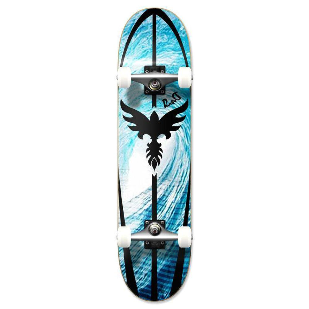 Punked Graphic Tsunami Complete Skateboard - Longboards USA