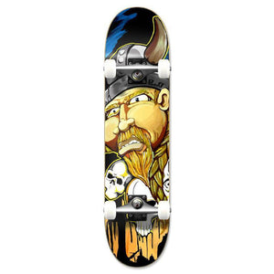 Punked Graphic Viking Complete Skateboard - Longboards USA