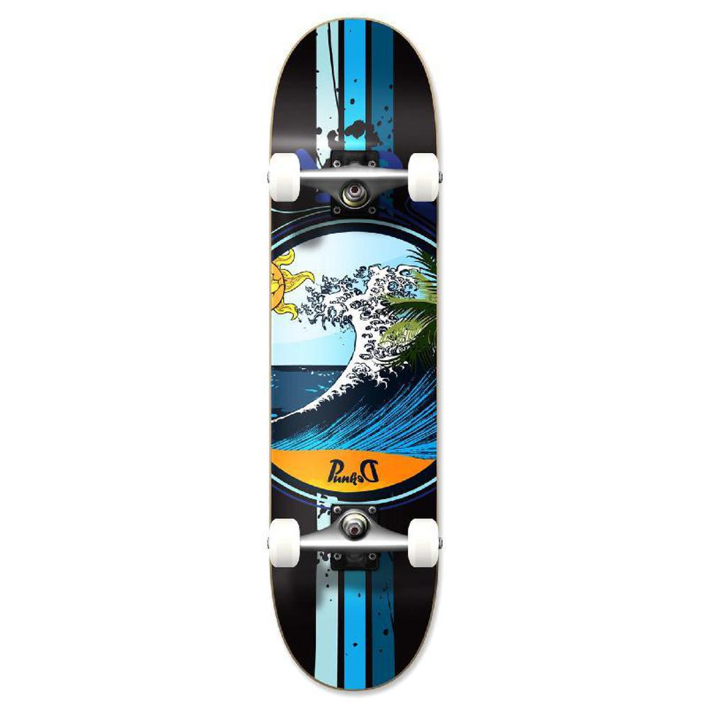 Punked Graphic Wave Complete Skateboard - Longboards USA