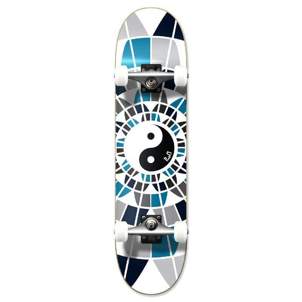 "Punked Graphic Yin Yang 31"" Complete Skateboard - Longboards USA"