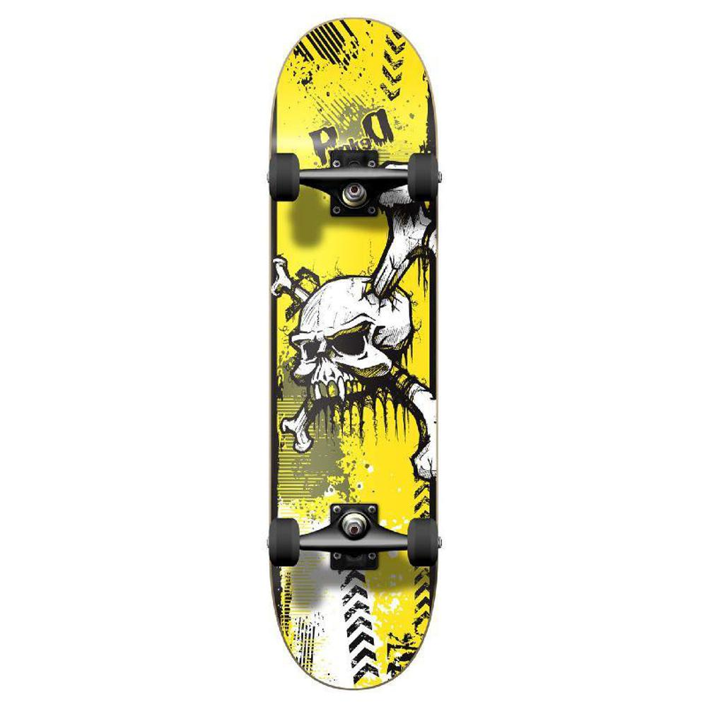 Punked Graphic Yskull Complete Skateboard - Longboards USA