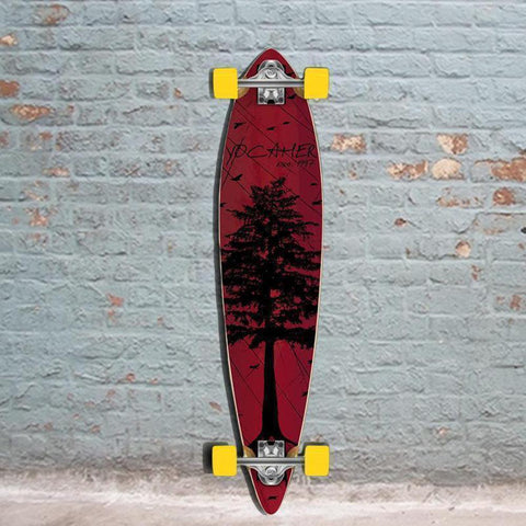 Punked In The Pines Red 40 inch Pintail Longboard - Longboards USA