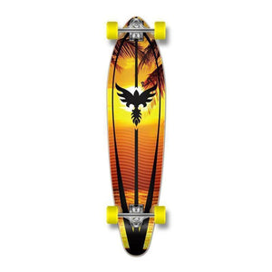"Punked Kicktail Sunset 40"" Longboard Complete - Longboards USA"