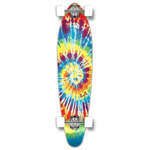 Punked Kicktail Tiedye Original Longboard Complete - Longboards USA