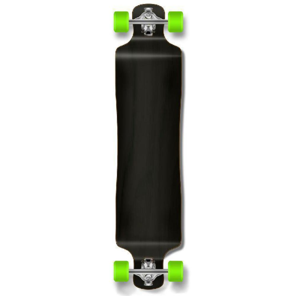 Punked Lowrider Blank Longboard Complete - Stained Black - Longboards USA