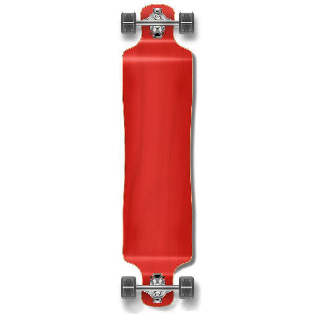 Punked Lowrider Blank Longboard Complete - Stained Red - Longboards USA