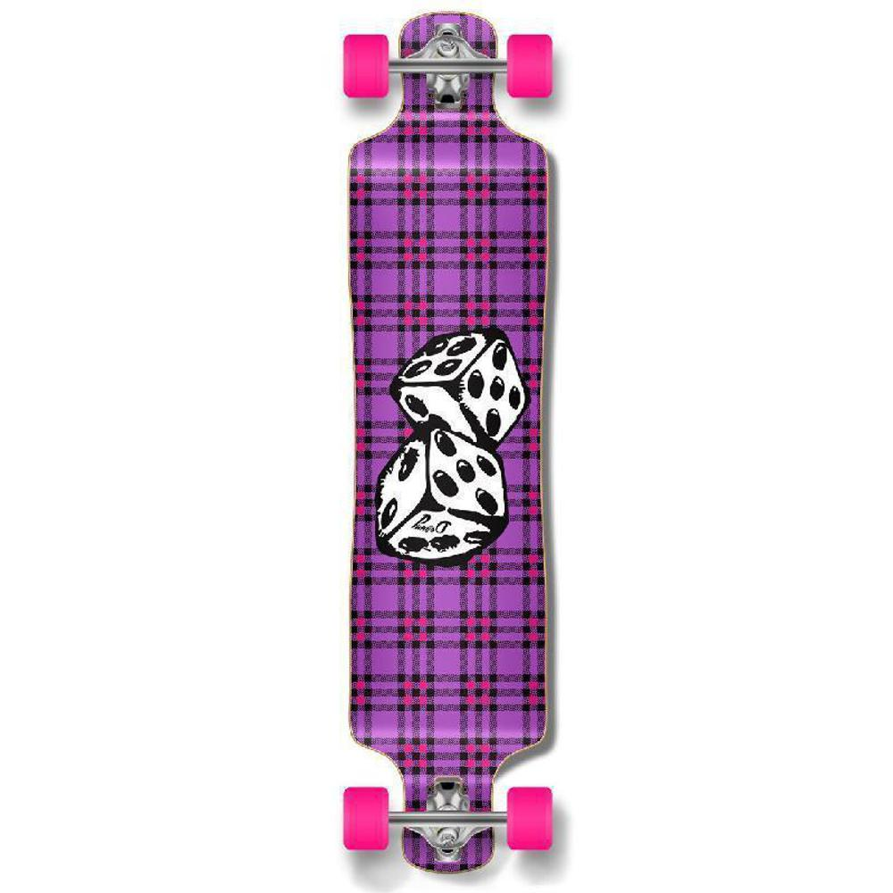 Punked Lowrider Dice Longboard Complete - Longboards USA