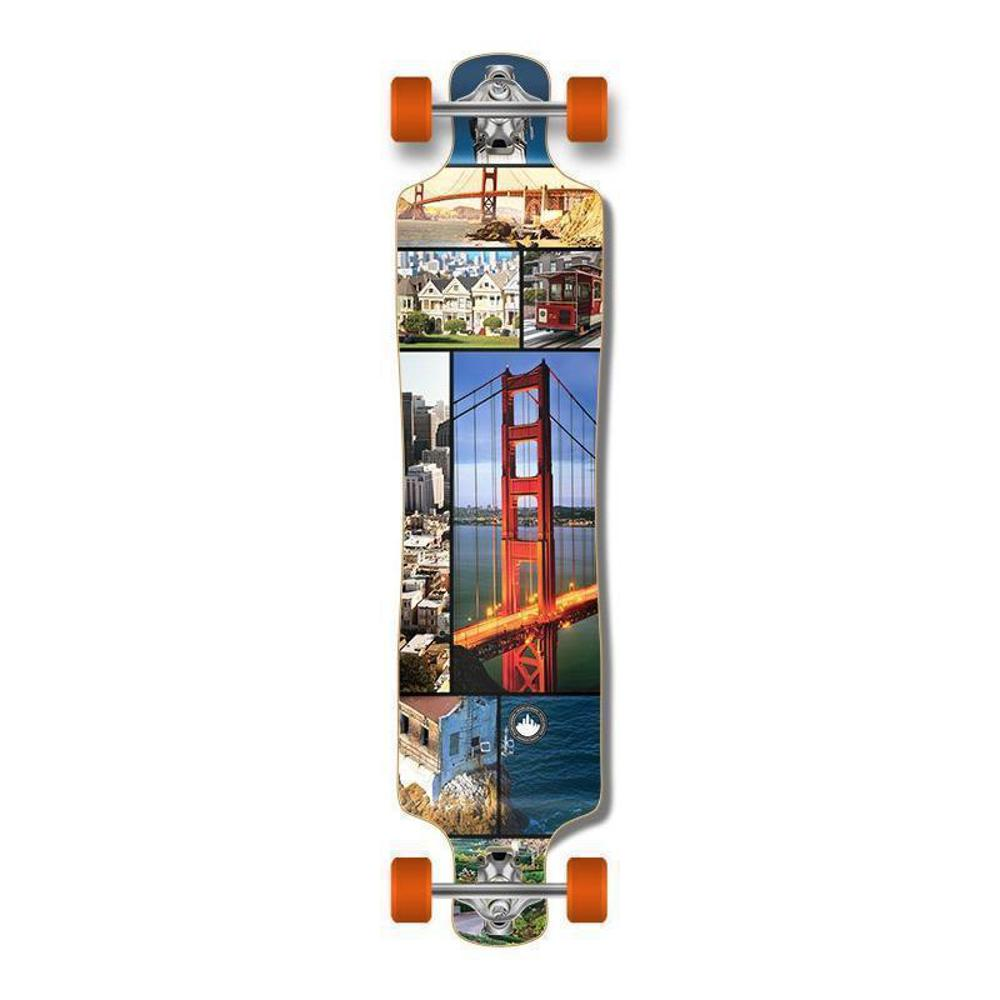 "Punked Lowrider Double Drop 40"" San Francisco Longboard - Longboards USA"