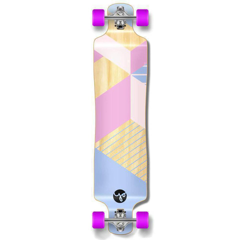 "Punked Lowrider Double Drop Geometric Purple 40"" Longboard - Longboards USA"