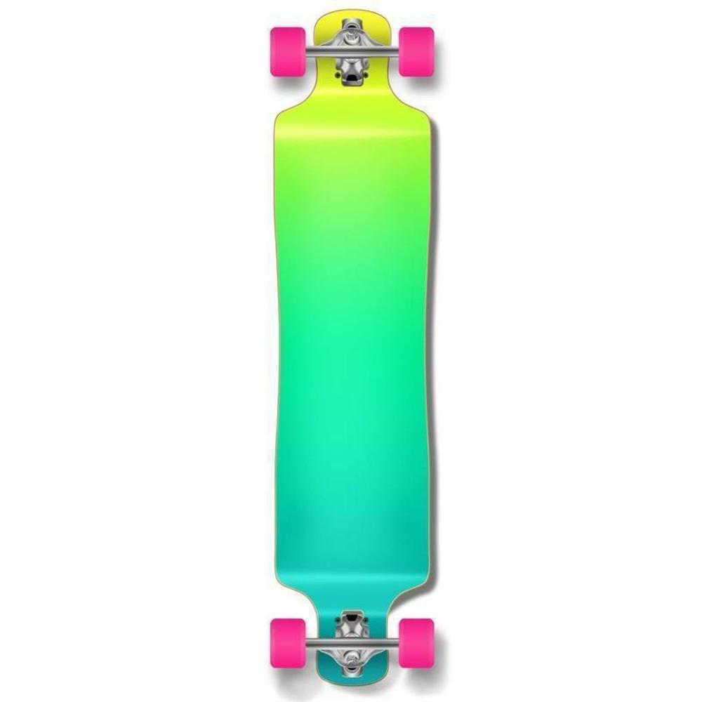 "Punked Lowrider Double Drop Gradient Green 40"" Longboard - Longboards USA"