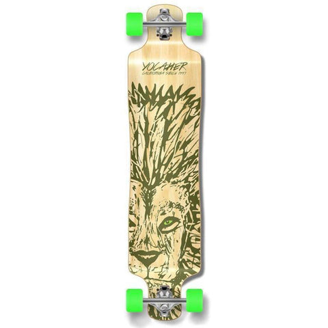 "Punked Lowrider Double Drop Lion 40"" Longboard - Longboards USA"