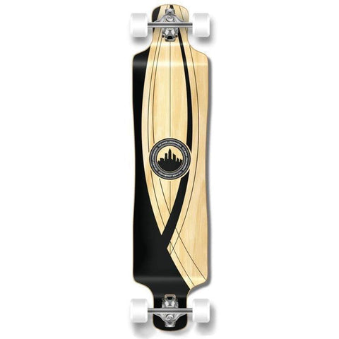 "Punked Lowrider Double Drop Onyx 40"" Longboard - Longboards USA"
