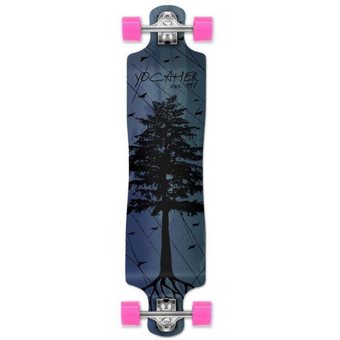 "Punked Lowrider Double Drop Pines Blue 40"" Longboard - Longboards USA"
