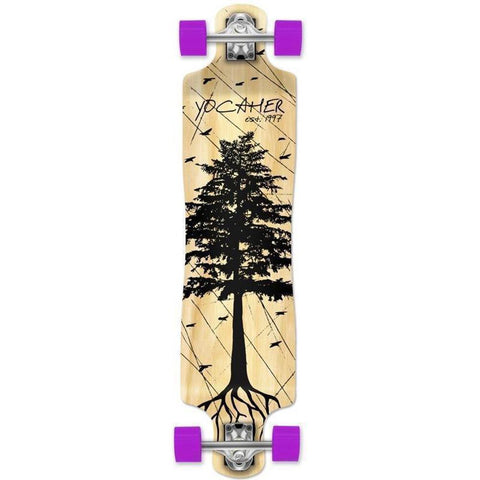 "Punked Lowrider Double Drop Pines Natural 40"" Longboard - Longboards USA"