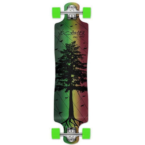 "Punked Lowrider Double Drop Pines Rasta 40"" Longboard - Longboards USA"