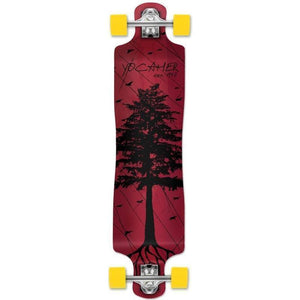 "Punked Lowrider Double Drop Pines Red 40"" Longboard - Longboards USA"