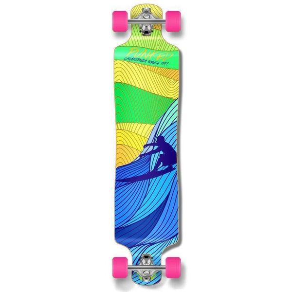 "Punked Lowrider Double Drop Surf's Up 40"" Longboard - Longboards USA"