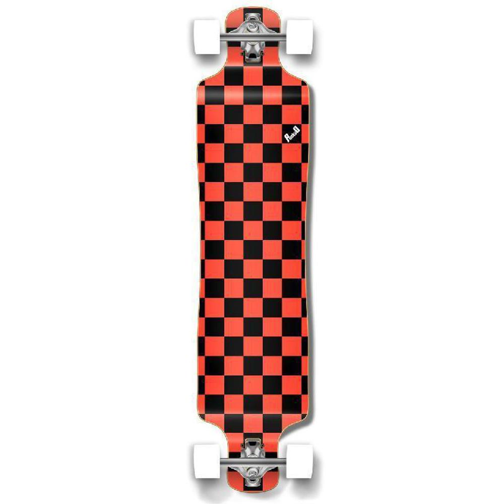 Punked Lowrider Longboard Complete - Checker Orange - Longboards USA