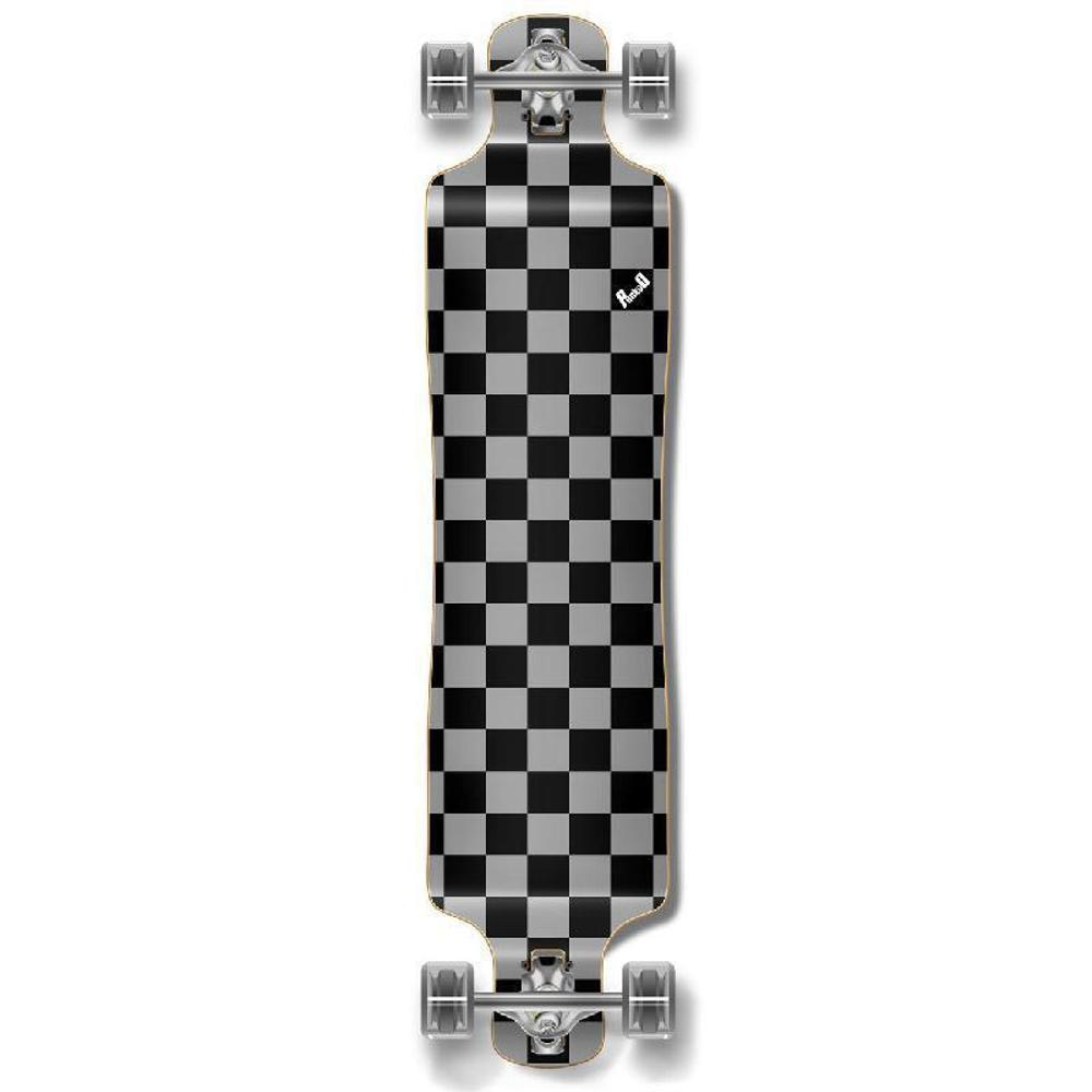 Punked Lowrider Longboard Complete - Checker Silver - Longboards USA