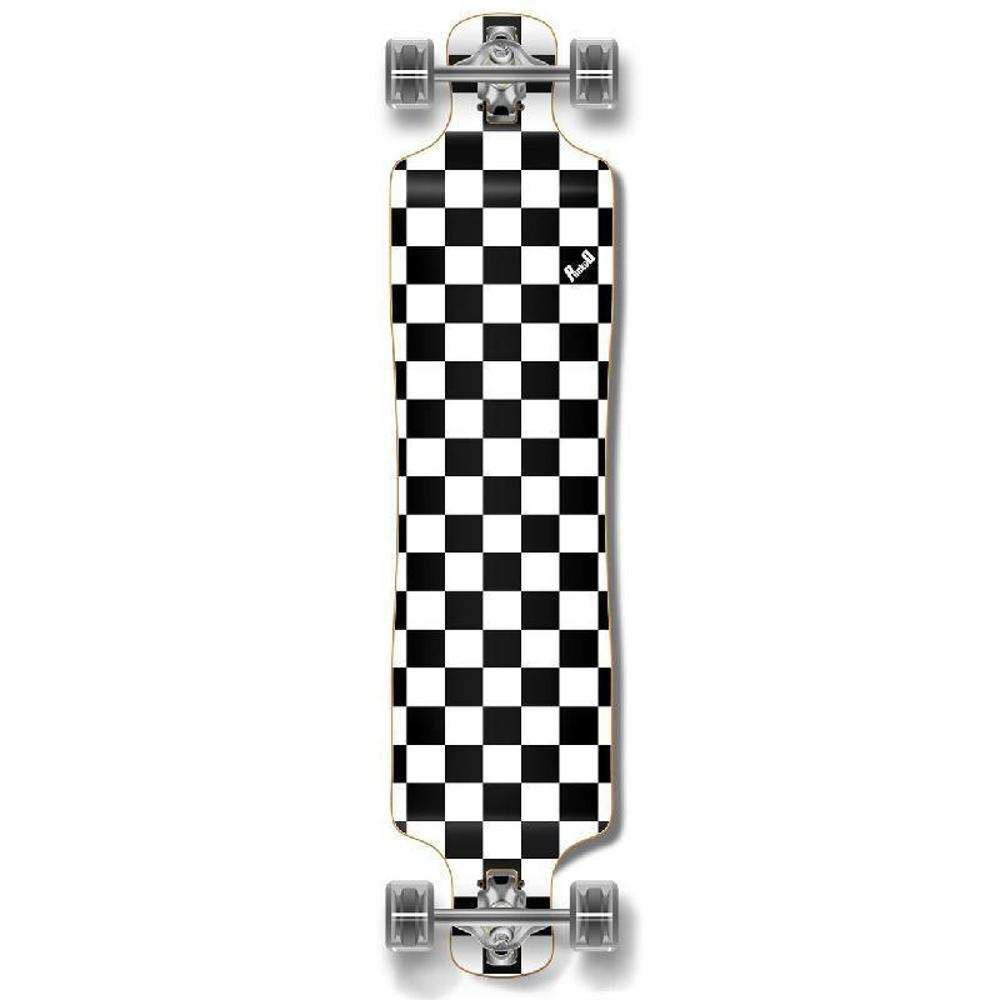 Punked Lowrider Longboard Complete - Checker White - Longboards USA