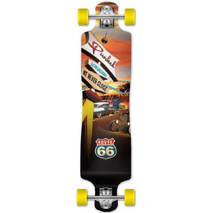 Punked Lowrider Longboard Complete - Route 66 Series - Diner - Longboards USA