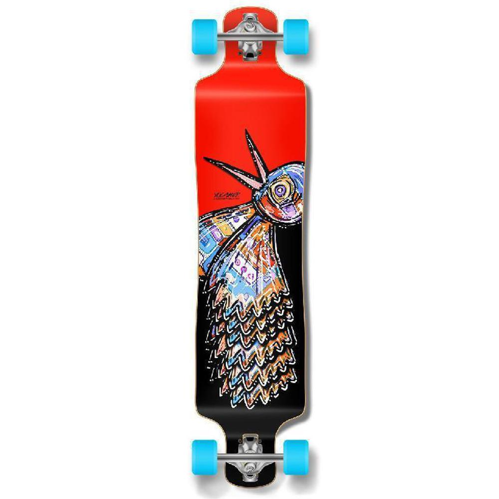 Punked Lowrider Longboard Complete - The Bird Red - Longboards USA
