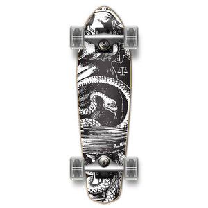 Punked Micro Cruiser Black Blind Justice Complete - Longboards USA
