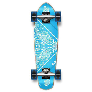 Punked Micro Cruiser Complete - Bandana SkyBlue - Longboards USA