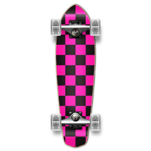 Punked Micro Cruiser Complete - Checker Pink - Longboards USA